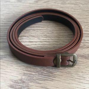 Brown high waisted belt